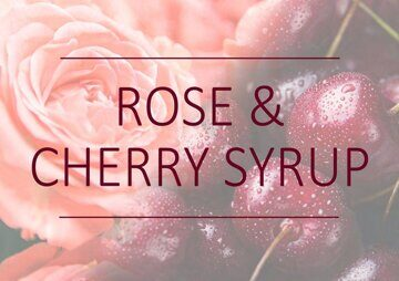1383-3 Rose & Cherry Syrup